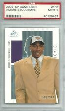 Amare Stoudemire 2002-03 SP Game Used Edition Auth. Rookie 583/900 PSA MINT 9