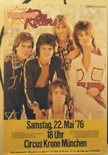 BAY CITY ROLLERS CONCERT TOUR POSTER 1976 ONCE UPON A STAR
