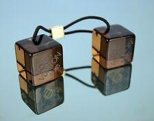 LOUIS VUITTON PVC Crystal Clear Resin Cube Hair Accessories Hair Band Brown Auth