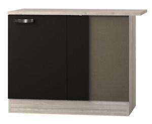 Küchen-Eckunterschrank BARCELONA - 1-türig - 110 cm breit - Grau / Akazie Dekor