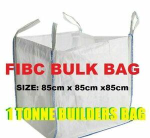 One 1 Tonne FIBC Ton Dumpy Jumbo Bags Builders Garden Rubble Aggregate Sack