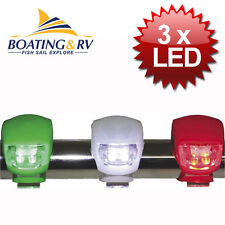 LED Navigation lights Emergency set of 3 Nav lights for boats, Kayaks, Jet Skis