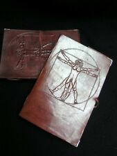 A5 in pelle fatto a mano Journal Diary Sketchbook-Leonardo da Vinci Uomo vitruviano