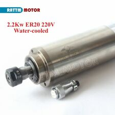 【EU Stock】 2.2KW Water Cooled Spindle Motor ER20 80x213mm 220V for CNC Router