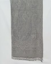 Yak/Sheep Boiled Wool Blend Banket/Throw Handcrafted India Gray & Light Gray