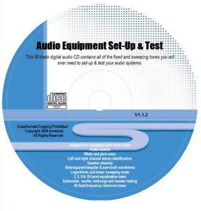 De audio device configuration & Test Tones CD