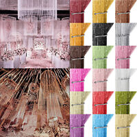 Glitter String Curtain Panel Door Fly Screen Room Divider Window Fringe Curtains