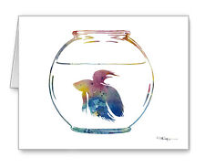 Beta Fish Note Cards With Envelopes