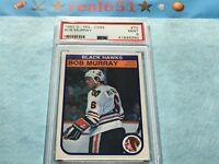 1982 O-Pee-Chee #70 BOB MURRAY | Chicago Blackhawks | Near Perfect PSA 9 Mint
