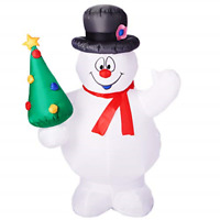 Airblown Inflatables Gemmy Industries Frosty with Christmas Tree, 5'