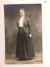 Vintage RPPC Postcard Turn Century Woman Suit Dress Coat 1900 Mother Portrait