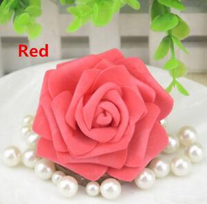 50-500PCS 6cm Foam Roses Artificial Flower Wedding Bride Bouquet Party Decor DIY