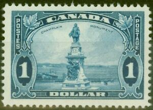 Canada 1935 $1 Bright Blue SG351 V.F Very Lightly Mtd Mint