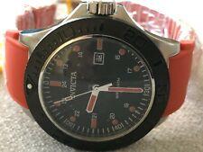 Invicta Pro Diver Aquarius Quartz Black Dial Silicone Orange Strap Watch