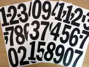 """Pack of 35 x 4"""" (100mm) Black Vinyl Sticky Numbers, Self-Adhesive, Stick on, Cut"""