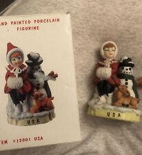 Vintage 1992 Rsvp Children Of The World Usa Girl Figurine Hand Painted Porcelain
