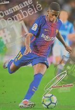 OUSMANE DEMBELE - A3 Poster (42 x 28 cm) - FC Barcelona Fußball Clippings NEU