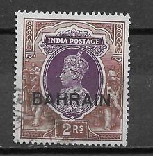 BAHRAIN , INDIA , 1938/41 , GEORGE VI , NO.33, 2r STAMP , PERF , USED , CV$9.75