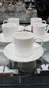 Espresso coffee cup saucer 2 pair