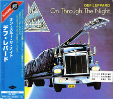 "DEF LEPPARD ""On Through The Night"" CD album import Japan w/obi Mercury UICY-2425"
