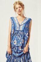 Spell Designs Zahara Sleeveless Blouse Navy - Size S BRAND NEW