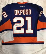 2014 NHL NEW YORK ISLANDERS GAME SIGNED KYLE OKPOSO JERSEY MEIGRAY TM