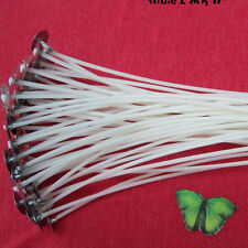 20pcs Candle Wicks 8 Inch COTTON Core Candle Making Supplies Pretabbed New