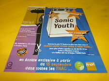 SONIC YOUTH - FRENCH TOUR!!!!!!!!!!!!PUBLICITE / ADVERT
