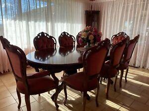 Victorian style Mahogany Antique (Reproduction) Dining Setting with 8 chairs
