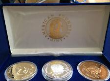 1989 American Founders Mint Washington to Bush Proof Silver Art Medal Set P2742