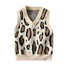 Kids Boys Baby Tank Top Knitted Jumper Pullover Sleeveless Sweater Vest Knitwear