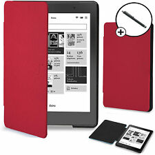 Forefront Cases® Red Shell Smart Case Cover Kobo Aura Edition 2 Stylus