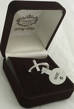 Sterling Silver Cross Ring Size 8
