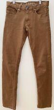 BILLABONG Boys Skinny Maverick Brown Denim Jeans, size 12, excellent condition