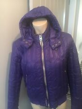 G Star Purple Puff Bomber Jacket Size L Women's