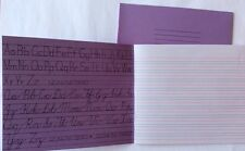2x Traditional Cursive Handwriting Exercise Book Guide Lines Child's Writing