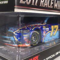 New - Ricky Stenhouse Jr #17 Fifth Third 2017 Fusion Blue Race Winner 1:24 car