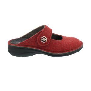 Finn Comfort Brig, Clog From Doublefilz, Red, Touch Fastener 6567-482147 Finncom
