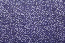 100 % Cotton fabric ~ Marble Purple with purple & white ~ BTY