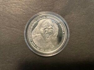 2019 Congo 1oz Silverback Gorilla Silver Bullion Coin 5000 Francs BU