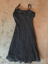 Plum Girls Lined Chiffon Dress Party Formal Navy Blue Size 10