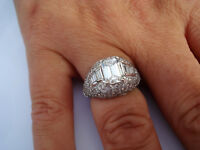 TOP Ring 750 Gold Solitär Diamanten 1,30 ct F Color IF / Lupenrein DPL ca 8,2 g