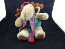 Commonwealth  Moose Brown Plush Stuffed Animal W/Vest  and Scarf 14""