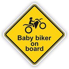 Wheelie Warning Sticker Baby Biker On Board Motorcycle Car Bumper Laptop Door