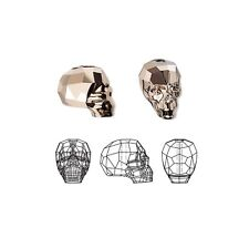 Swarovski Crystal Beads Faceted Skull 5750 Metallic Rose Gold 2X 14x13x10mm