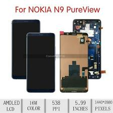 For NOKIA 9 PureView LCD Touch Screen Digitizer Assembly  Fingerprint Frame