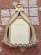 Ivory & Silver Pearl Dress Sheffield Home Jewel Collection Photo Frame 3.5 X 5