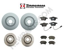 NEW Audi S4 2004-2009 Front and Rear Disc Brake Rotors & Pads KIT Zimmermann
