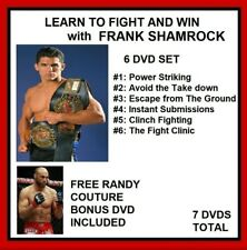 Learn to Fight and Win with FRANK SHAMROCK 6 DVD SET also Randy Couture MMA BBJ