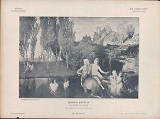 BERLIN. Lithografie: Malerei, Das gefilde der Seligen. Arnold Böcklin.